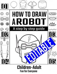 How to draw a robot
